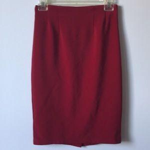 Forever 21 high waisted red skirt